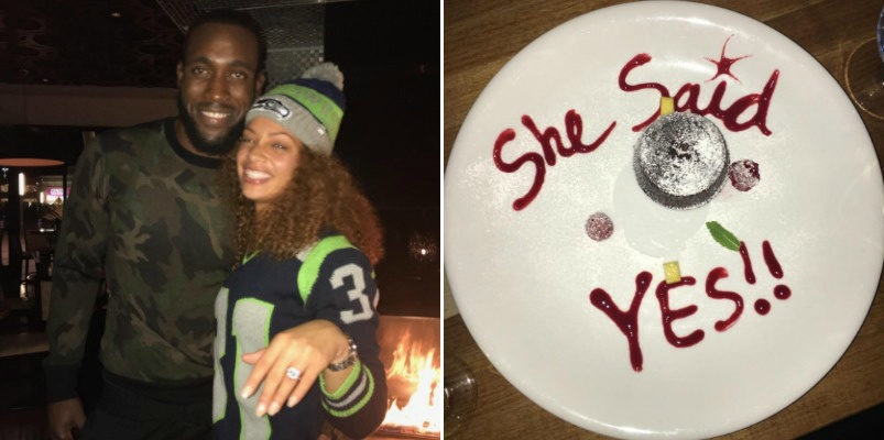 Seahawks Kam Chancellor PROPOSES TO GF