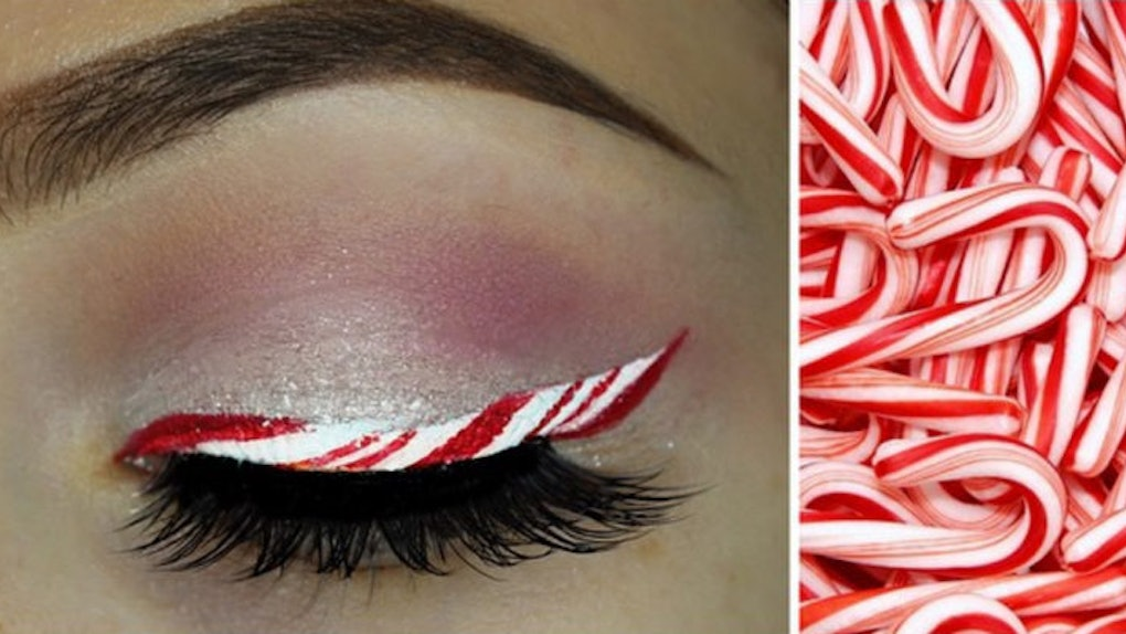 Candy Cane Eyeliner Is The Makeup You Need This Holiday