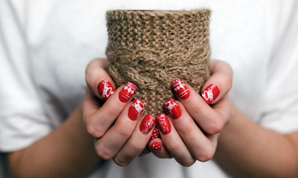 Ugly Christmas Sweater Nails Amp Up Your Holiday Spirit