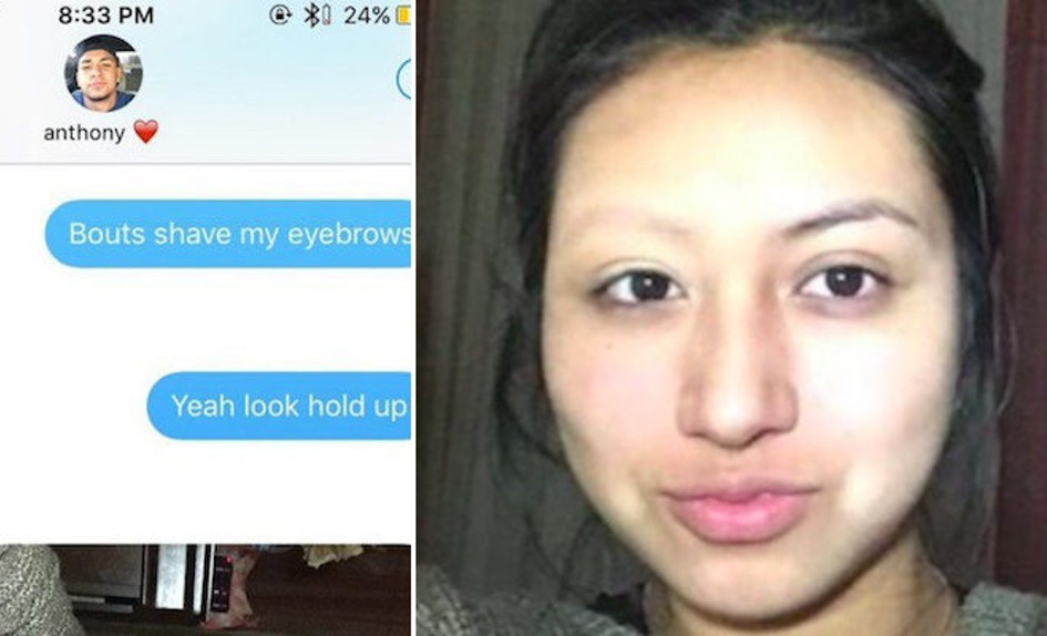 Lizette Galvans Savage Eyebrow Prank On Bf Goes Viral