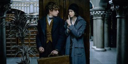 Eddie Redmayne and Katherine Waterson in Fantastic Beasts