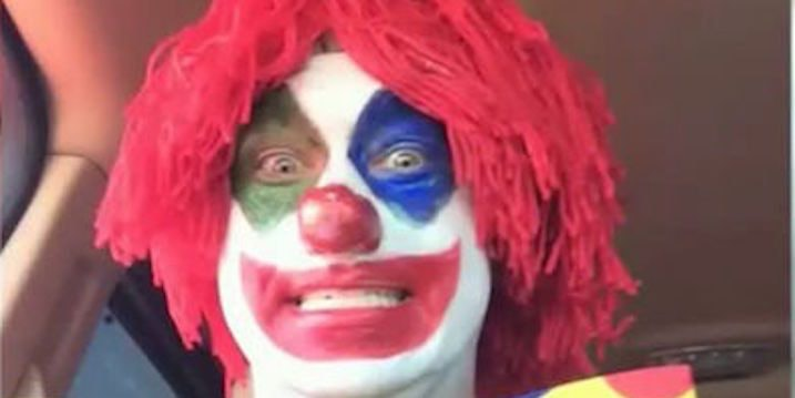 Fetish of sex with clowns, teen couples having intercourse