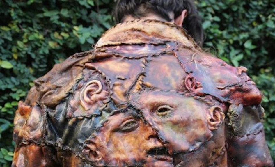 human flesh jacket takes fashion to disturbing new levels