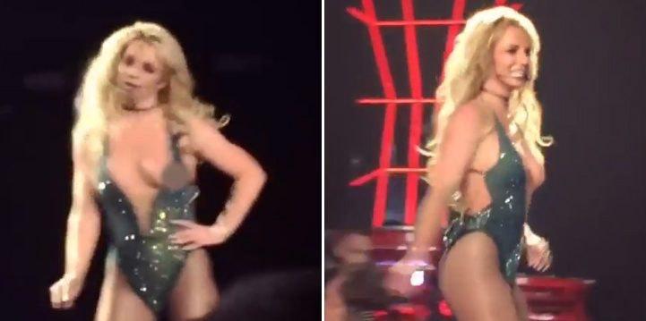 Spears boob slip