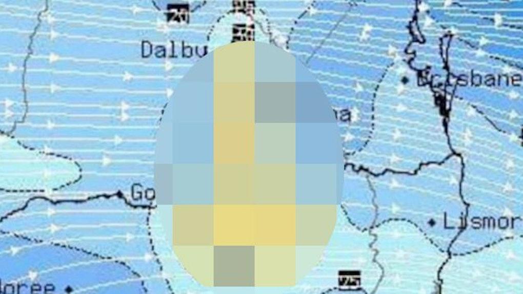 Map Of Australia Radar.Weather Site S Radar Map In Australia Looks Like A Penis
