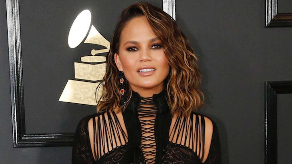 Chrissy Teigen Shares Sexy Nude Chair Photo
