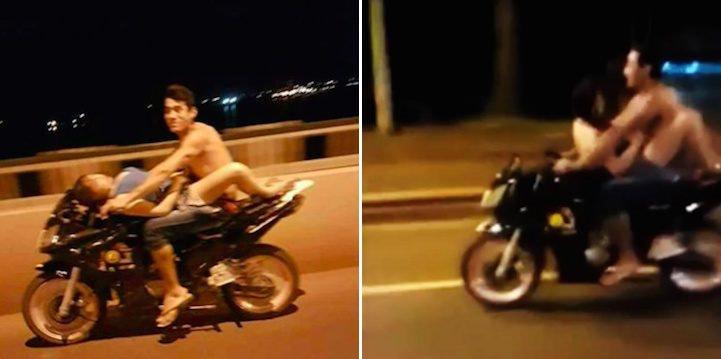 Секс на мотоцикле и на скорости
