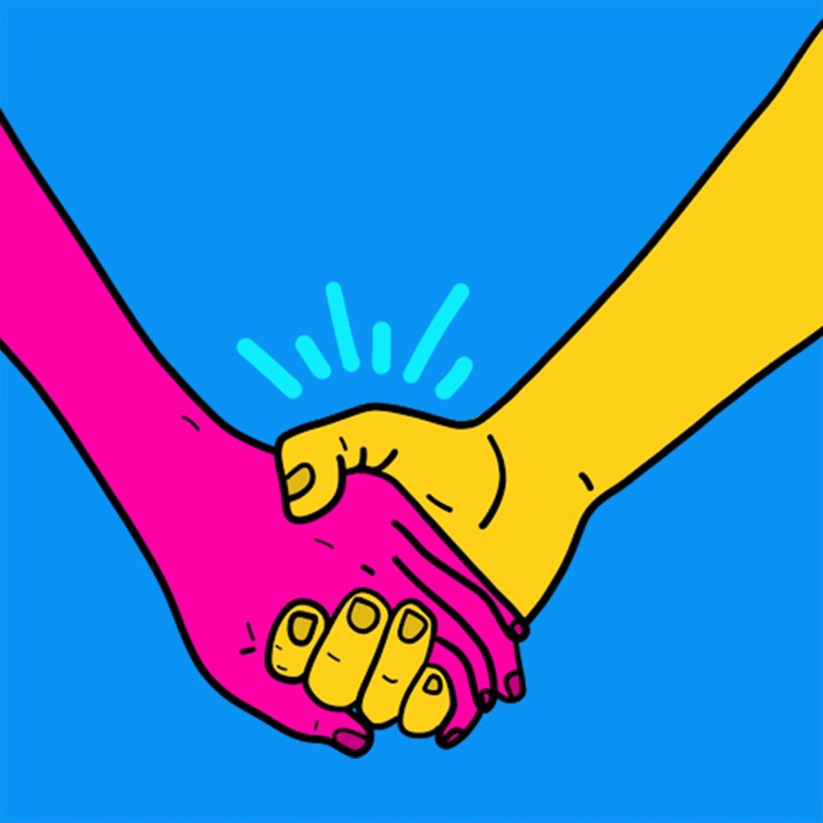 A firm grip when holding hands can be a little possessive.