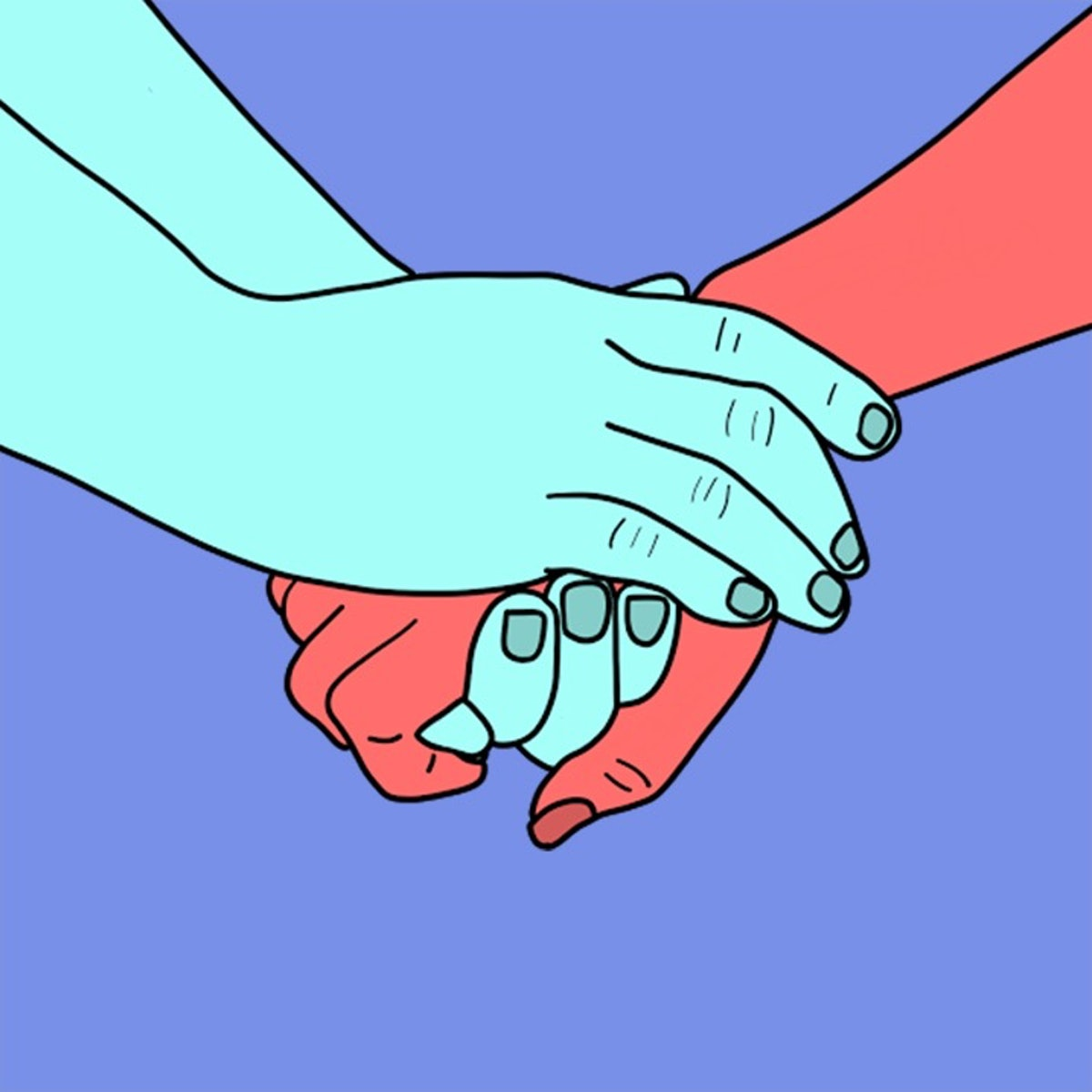 It's sweet when your partner wraps both hands around yours when holding hands.