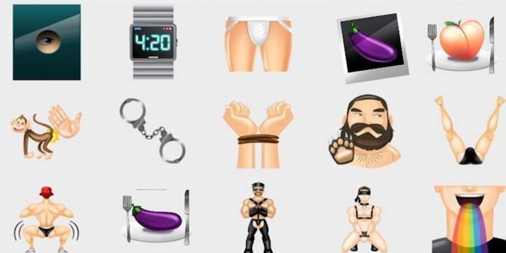gay sesso emoji enorme pene Galleria
