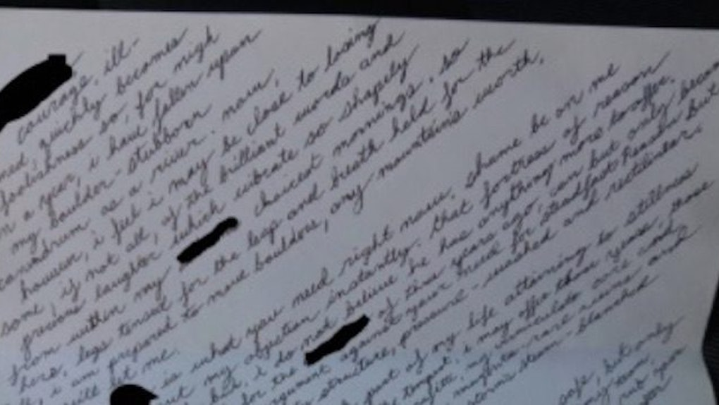 Guy Writes Love Letter To Girl Who's Had A BF For 3 Years