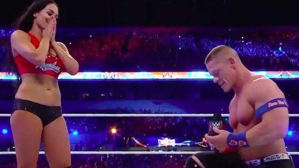 John Cena Proposed To Wrestler GF Nikki Bella On Live TV