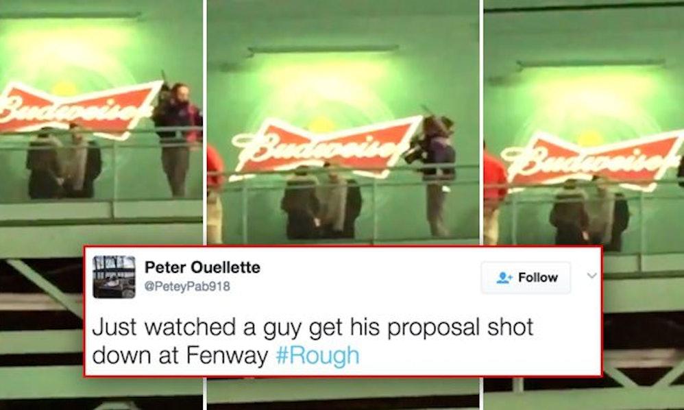 Marriage Proposal At Baseball Game Goes Horribly Wrong