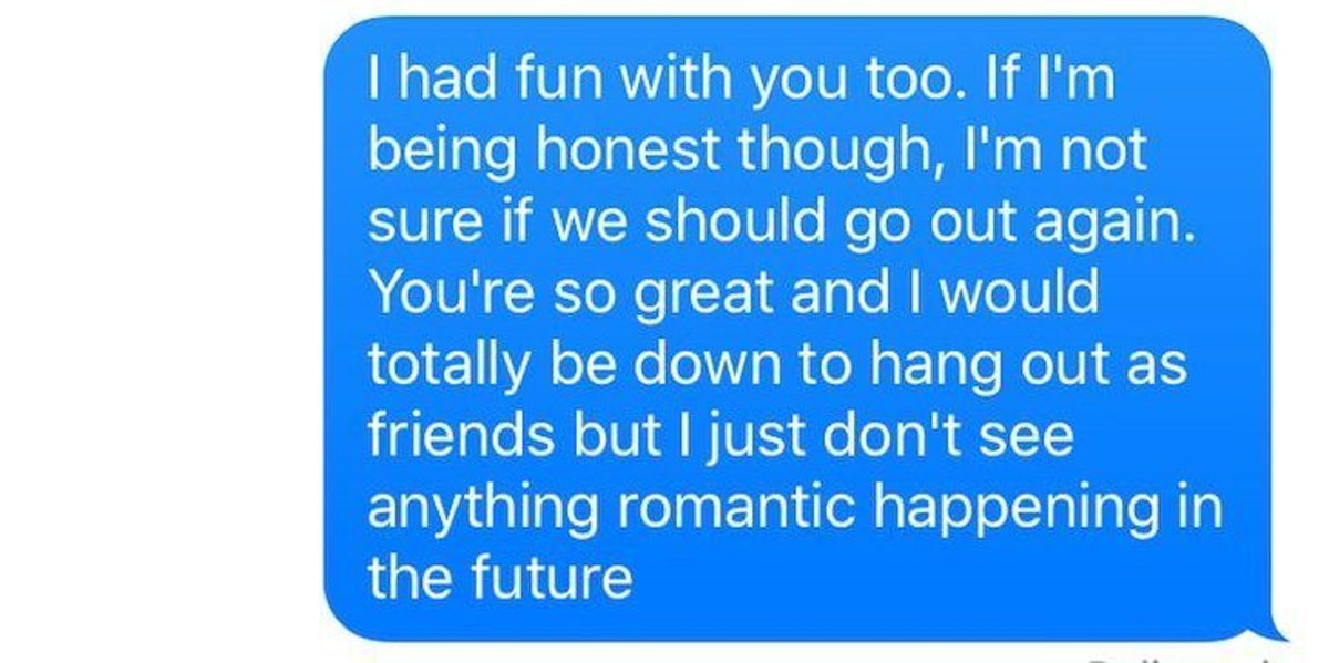 Rsd text what to after first date Texting after