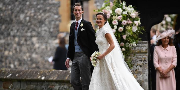 Pippa's Wedding Reception Dress