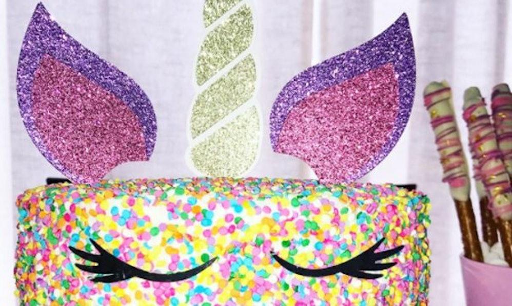 Purple Rainbow Cake