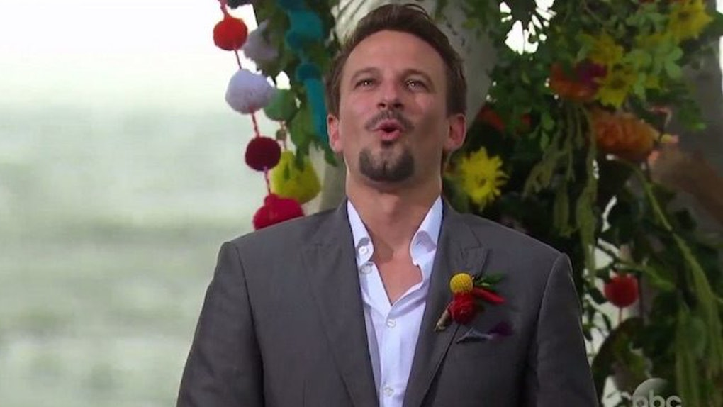 Carly And Evan Wedding.Evan S Reaction To Carly At Bachelor In Paradise Wedding Is So