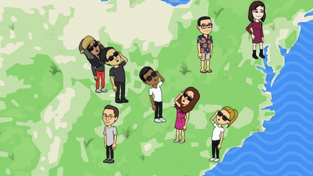 Snapchat Karte Bitmoji Pose.How To Give Snap Map Bitmojis Sunglasses During The Eclipse On Snapchat