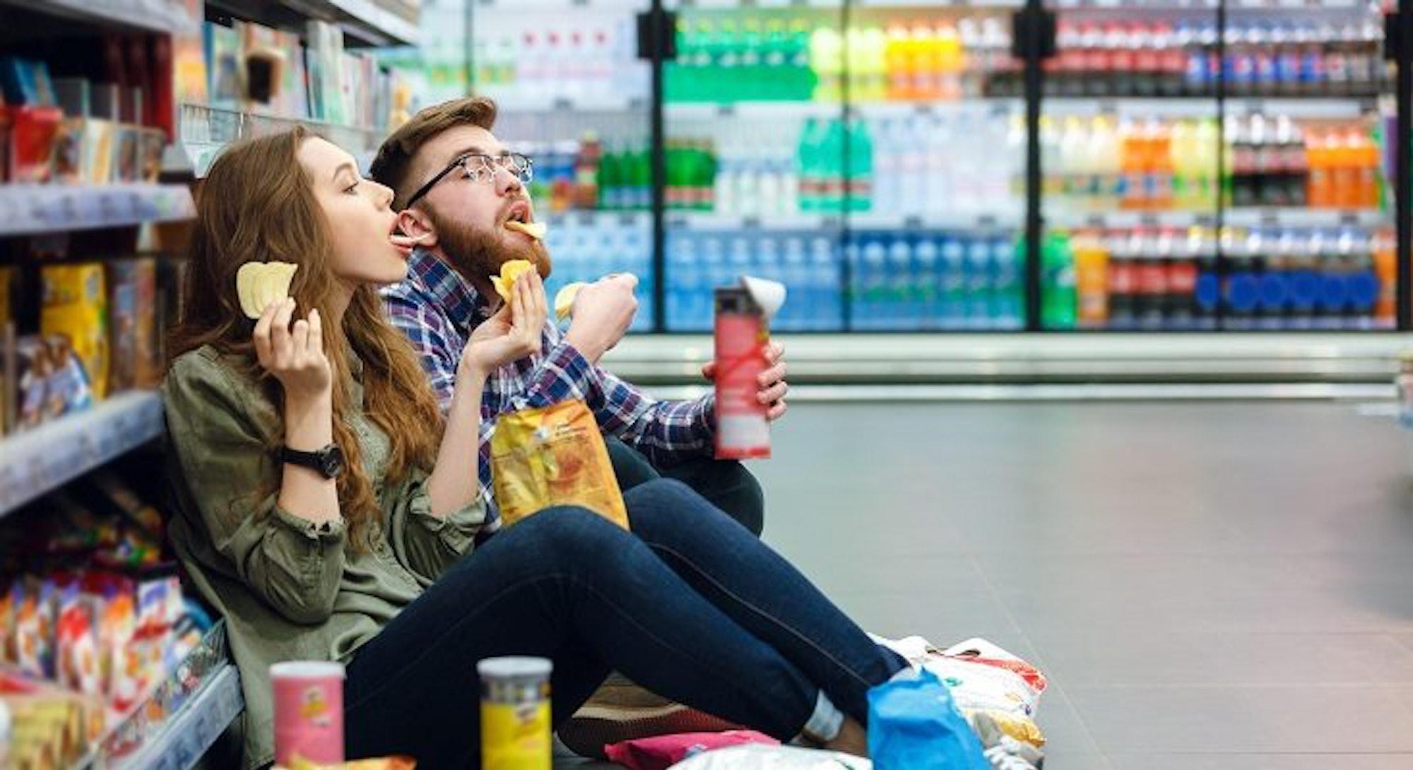 people eating junk food