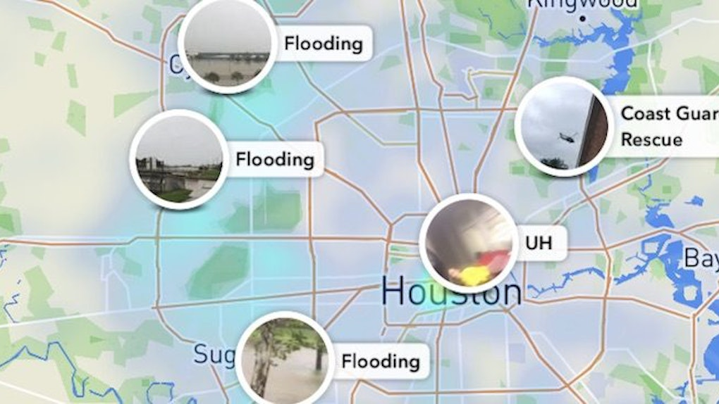 How To See Hurricane Harvey Damage On Snapchat Because It S Still