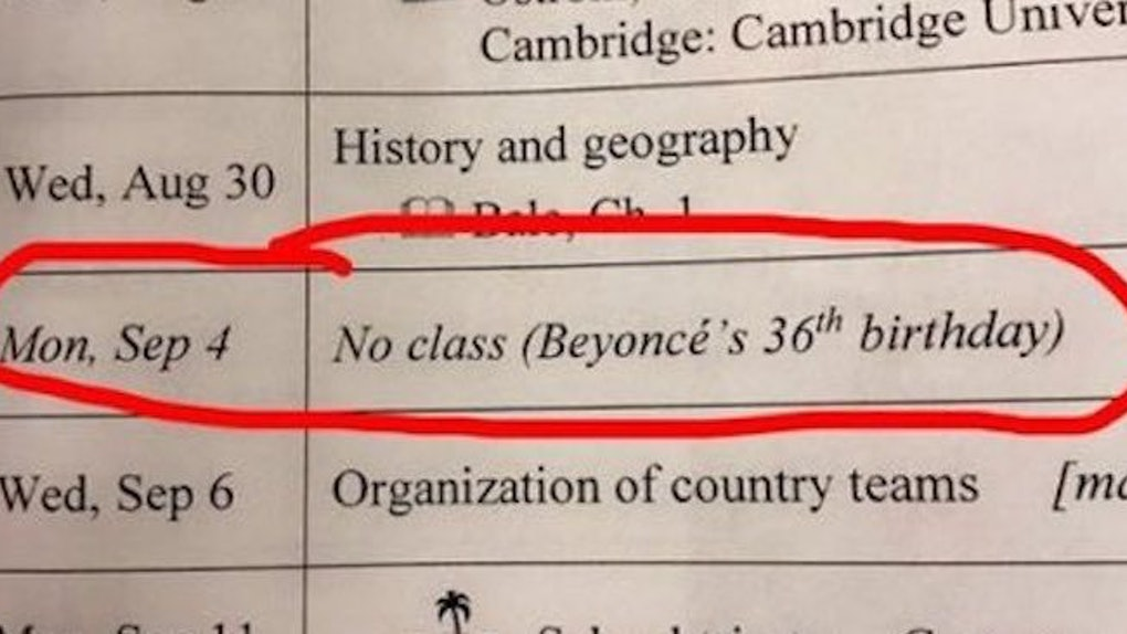 Teacher Cancels Class For Beyonce's Birthday On Viral