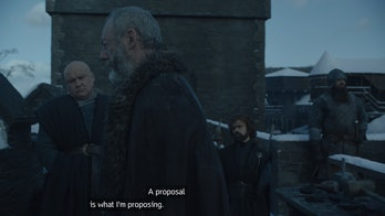 Conleth Hill, Liam Cunningham, and Peter Dinklage in 'Game of Thrones' Season 8