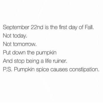 pumpkin spice constipation meme