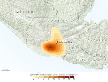 sulfur dioxide, Fuego