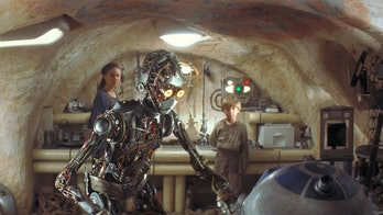 C-3PO with his creator in 'The Phantom Menace.'