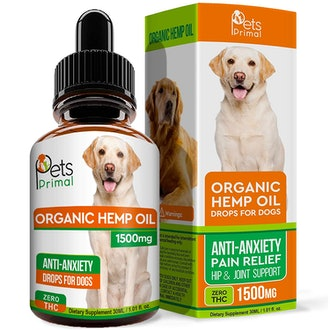 Pets Primal Hemp Oil for Dogs and Cats - 1500 Mg