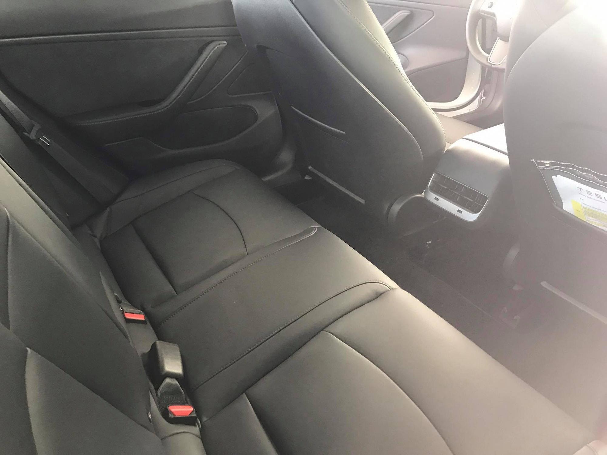 The Model 3's side doors