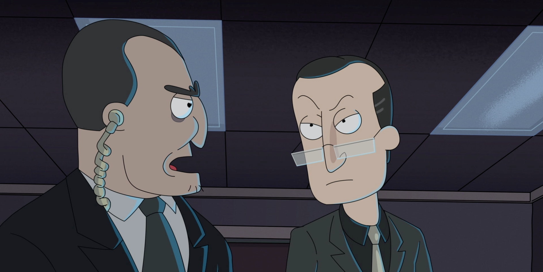 Peter Serafinowicz voices the villainous leader of the compound Pickle Rick accidentally invades.