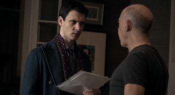 Harry Lloyd and J.K. Simmons in 'Counterpart.'