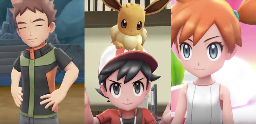 Pokemon Let's Go Brock Ash and Misty