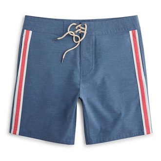 Faherty Brand Retro Surf Stripe Board Short