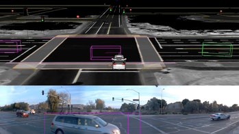 This is what Waymo sees when another vehicle runs a red light at an intersection.