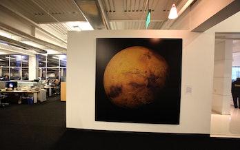 SpaceX headquarters mars