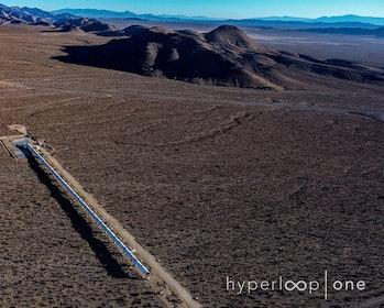 """The """"DevLoop"""" is at Hyperloop One's Nevada development site."""