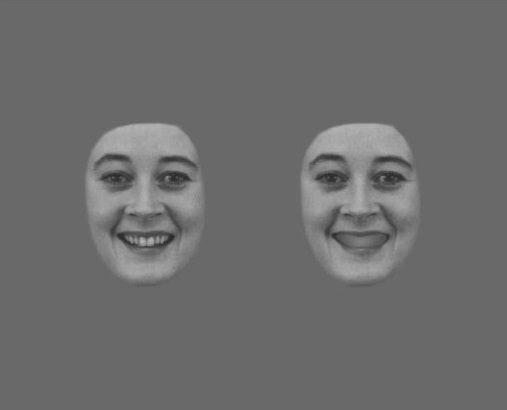 face floating creepy teeth no teeth covered