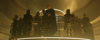 Paul Bettany as Dyrden Vos, a gangster in 'Solo: A Star Wars Story'