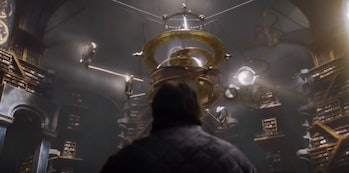 Sam Tarly and the gyroscope at the Citadel in 'Game of Thrones' Season 6