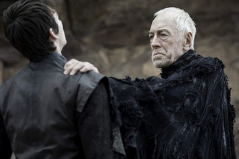 Isaac Hempstead Wright and Max Von Sydow on 'Game of Thrones'