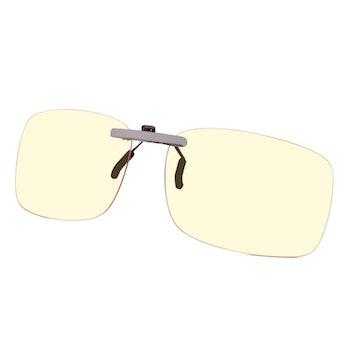 Clip-on blue light filter glasses