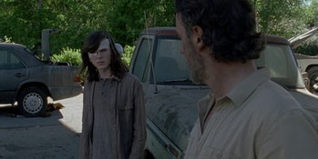 Rick scares away Carl's new potential friend.