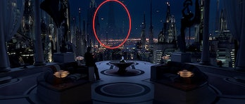 Padme's apartment view from Revenge of the Sith