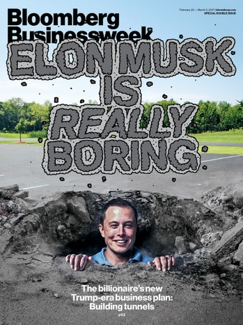 Bloomberg Businessweek had Elon Musk Tesla and SpaceX CEO on its cover to discuss the entrepreneur's...