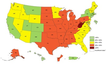 obesity map white americans