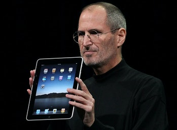Steve Jobs introducing the iPad in 2010.