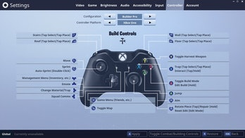 Builder Pro Controller Layout