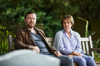 Ricky Gervais and Penelope Wilton on 'After Life'